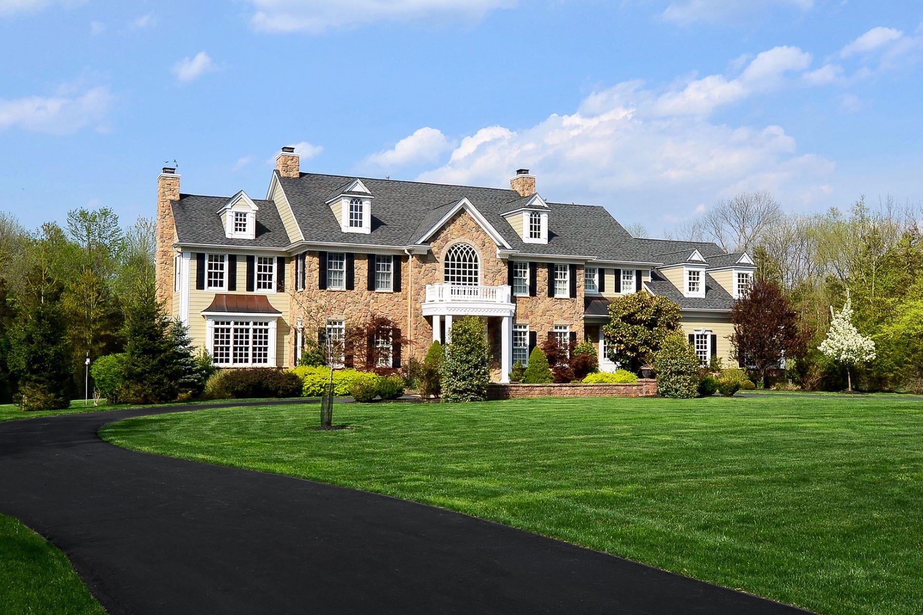 Частный односемейный дом для того Продажа на A Home Of Distinction 40 Birchwood Drive, Princeton, Нью-Джерси 08540 Соединенные ШтатыВ/Около: Montgomery Township