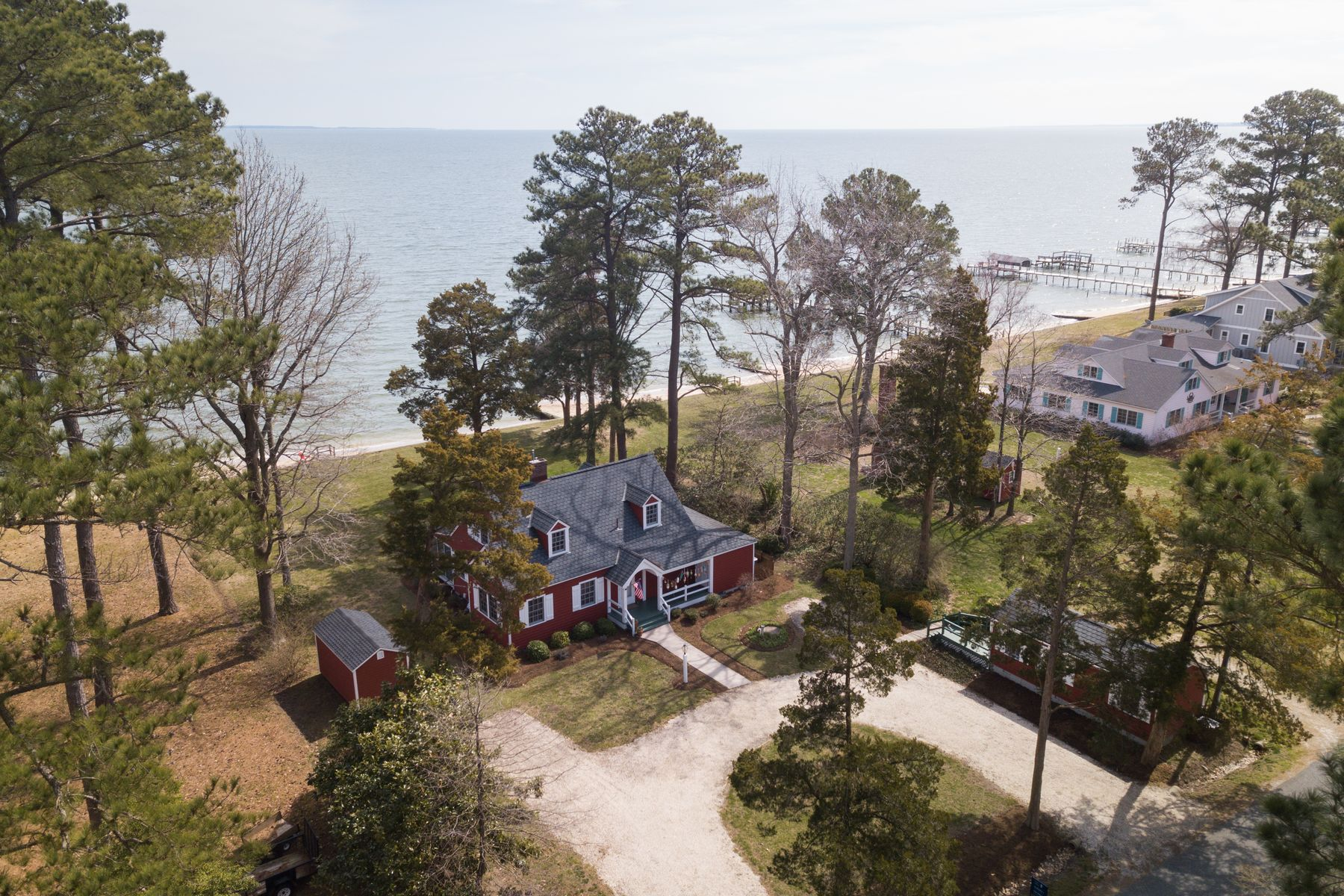 Single Family Homes for Sale at The Red Cottage 3378 Skipjack Road, Kinsale, Virginia 22488 United States