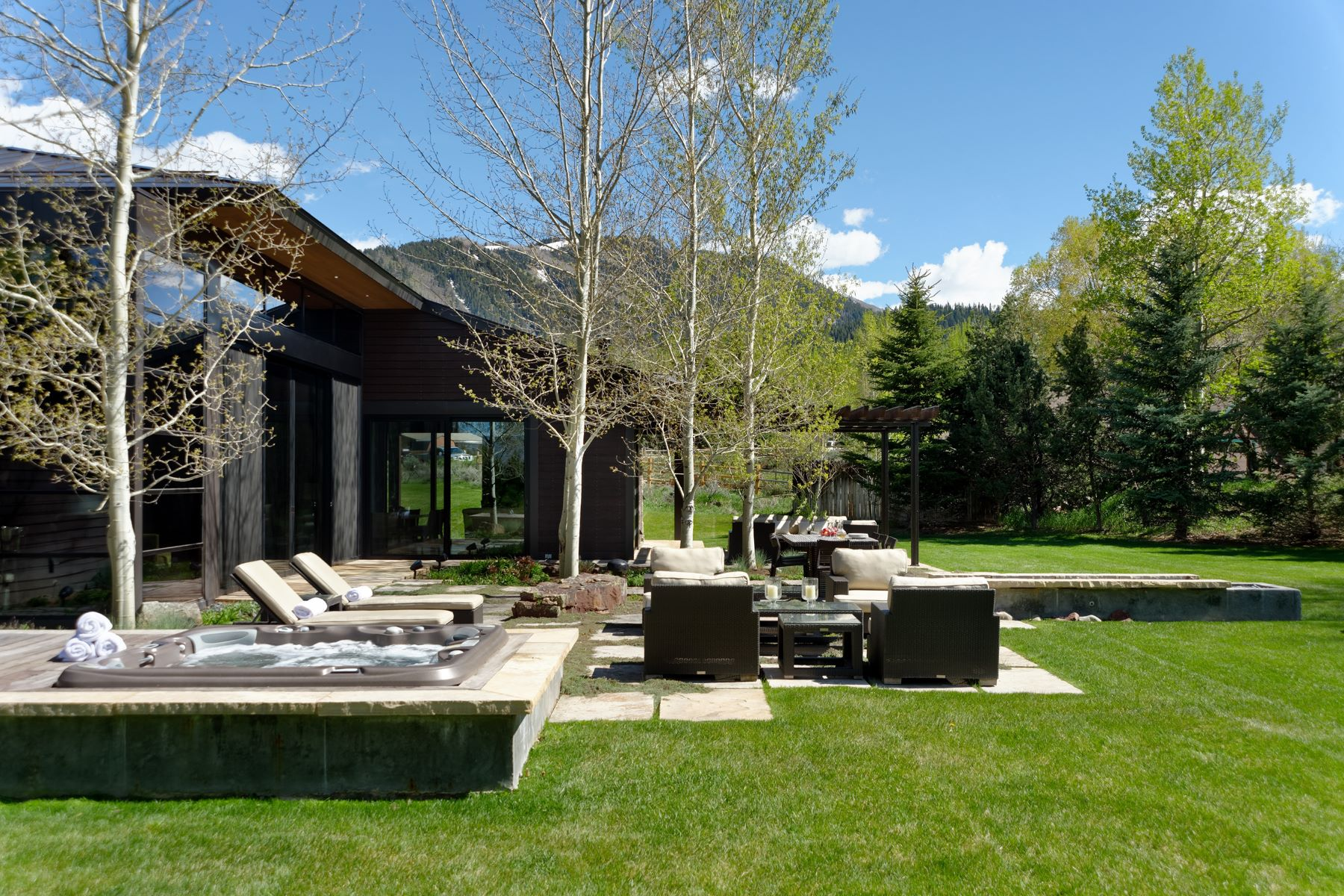 Single Family Home for Sale at Impressive Mountain Contemporary in West Aspen 28 Maroon Drive Aspen, Colorado, 81611 United States