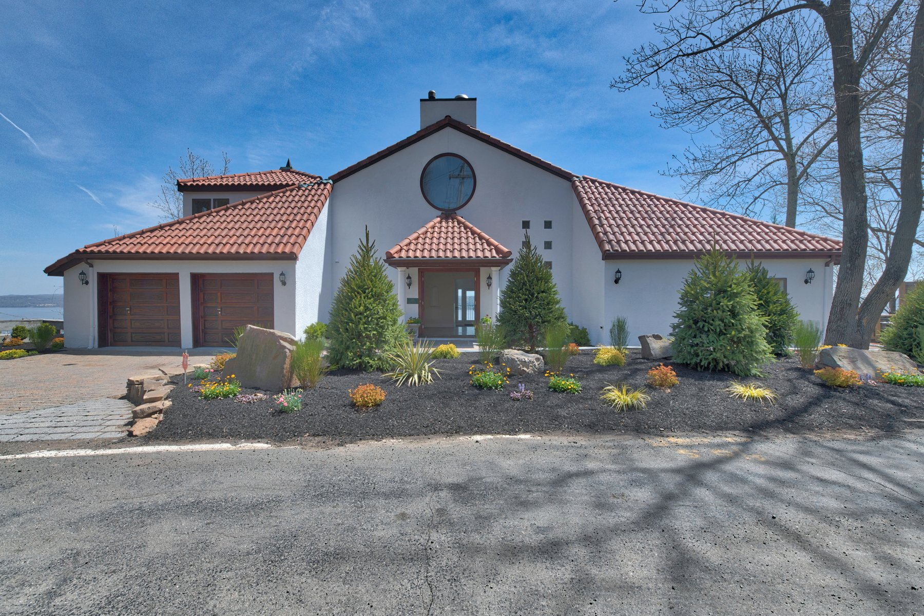 Single Family Homes for Active at Mediterranean Style - Hudson River Views 119 Tweed Blvd. Upper Grandview, New York 10960 United States