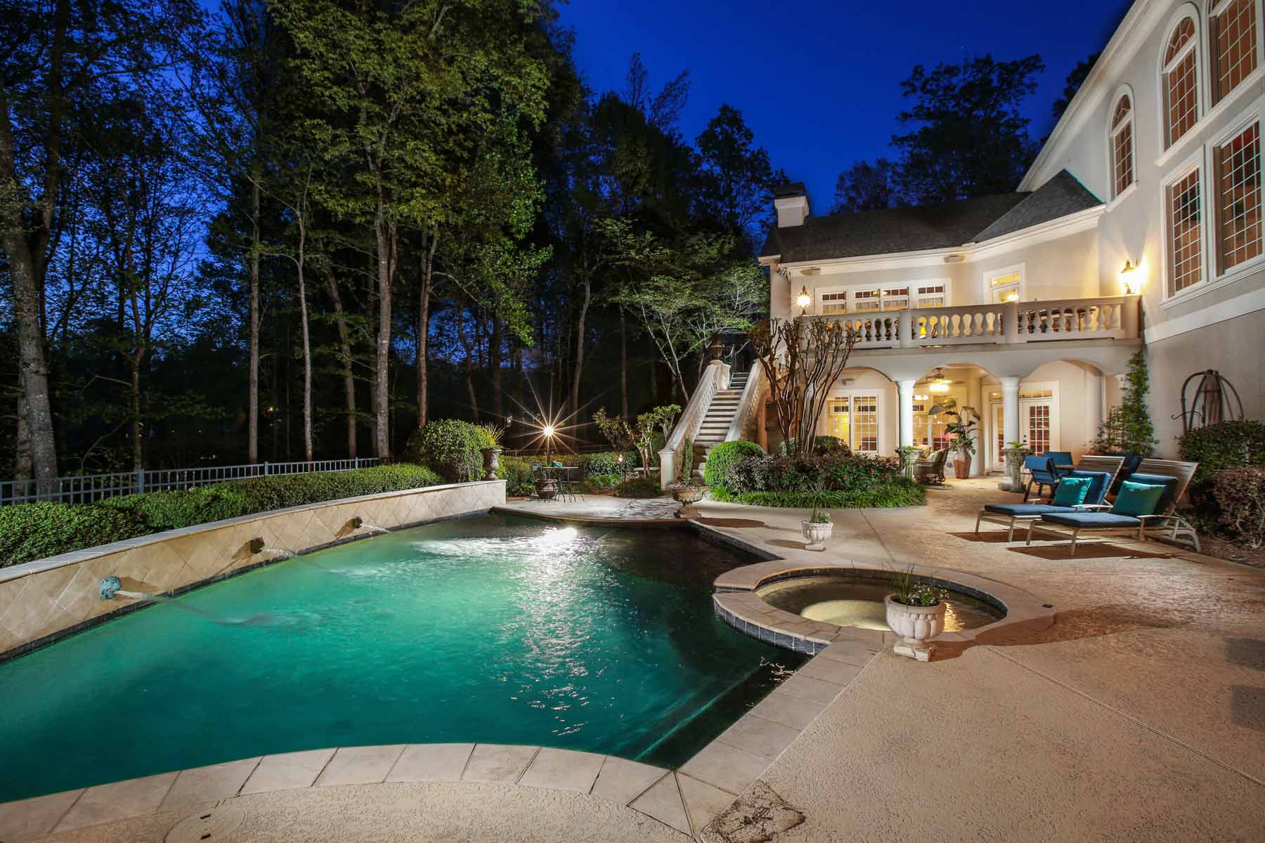 Single Family Home for Sale at 12th Green With Lake View 955 Tiverton Lane Alpharetta, Georgia, 30022 United States