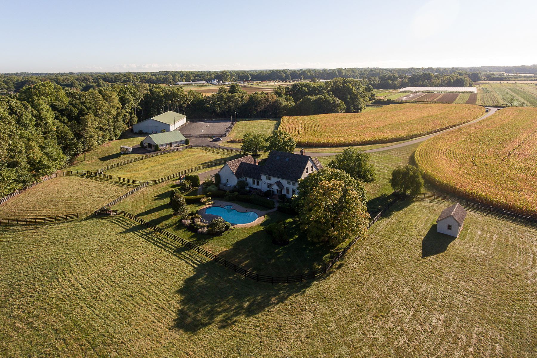 Single Family Home for Sale at Earthshine Farm: An Equestrian Dream 28 Harker Road Chesterfield, 08515 United States