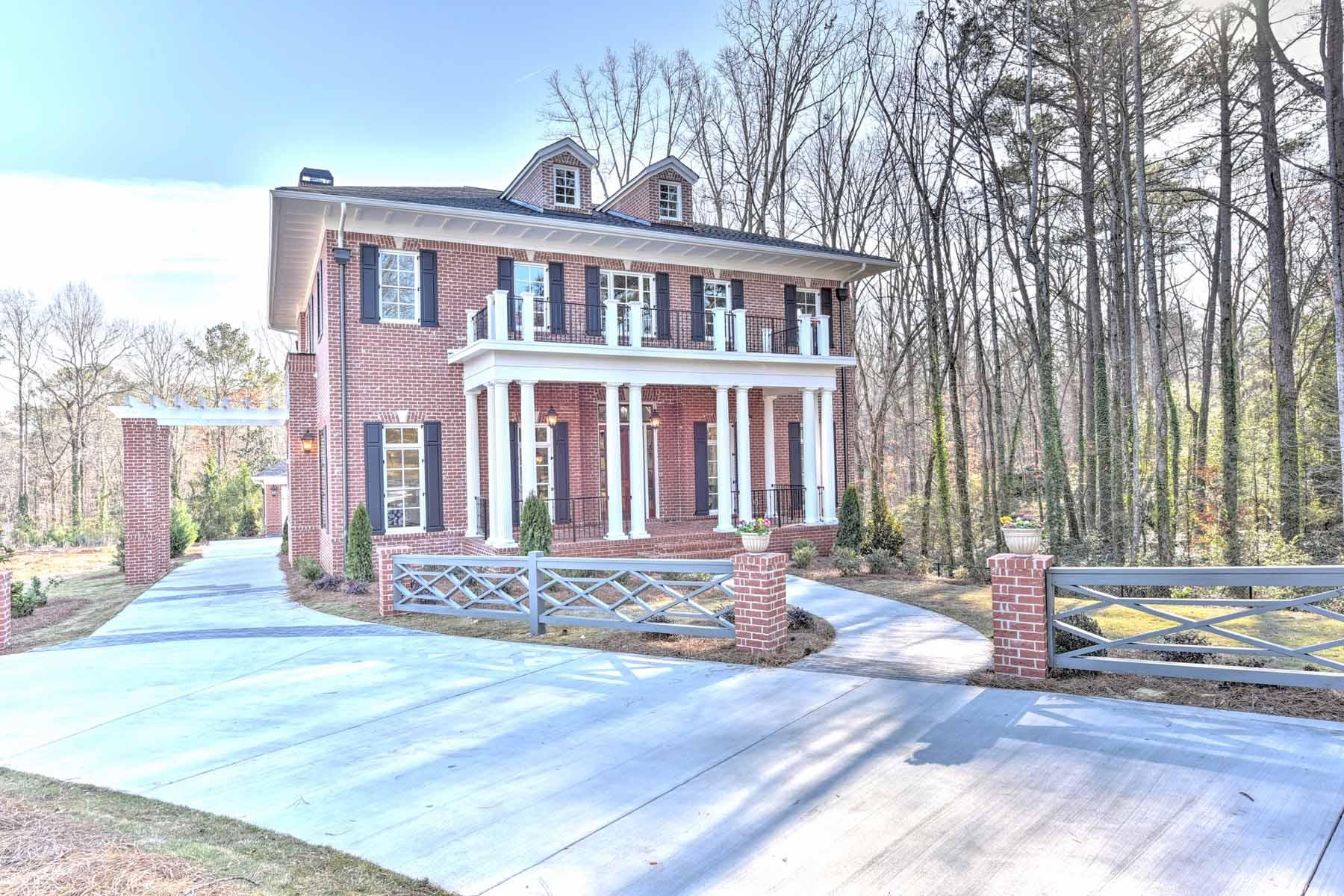 단독 가정 주택 용 매매 에 Stunning Georgian Revival-style architecture by award winning Cablik Enterprise 5140 Timber Ridge Road Marietta, 조지아, 30068 미국