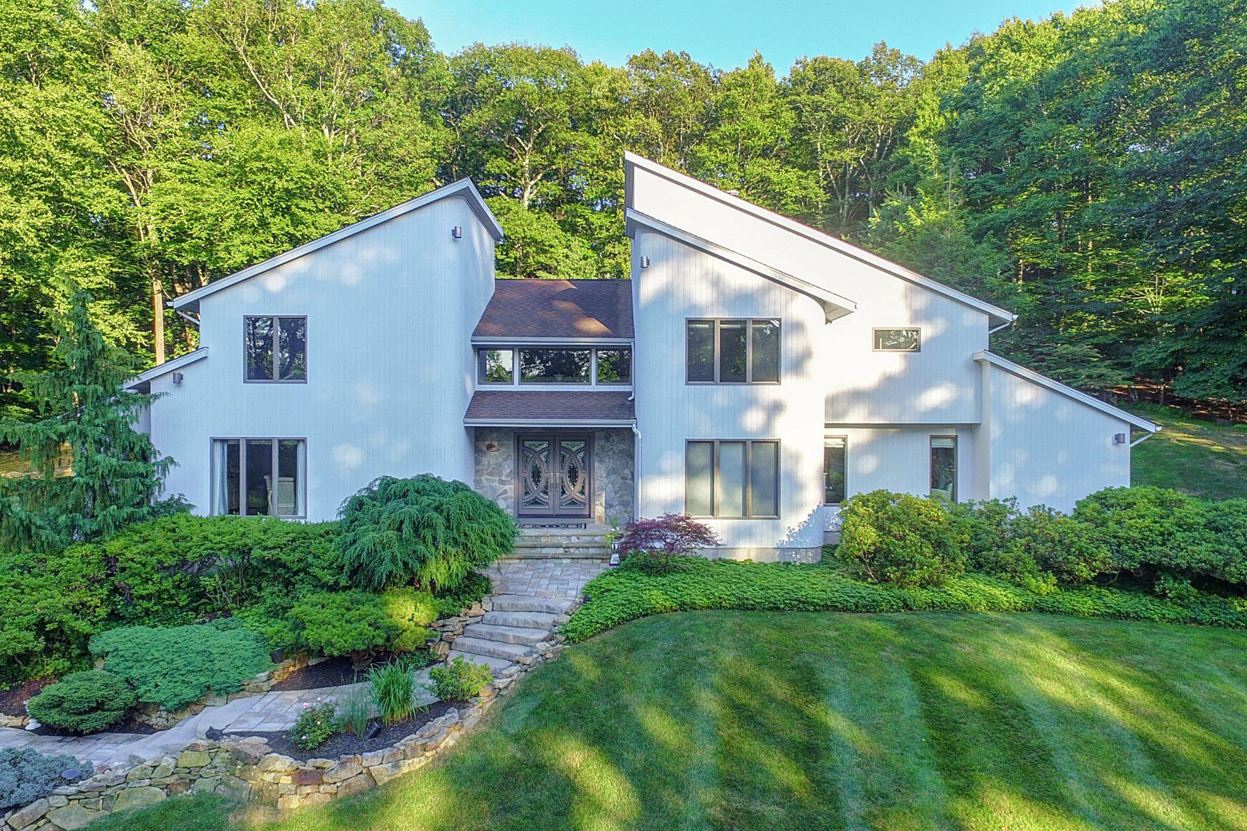 Eensgezinswoning voor Verkoop op Magnificent Contemporary Home 30 Old Farmstead Road, Chester Township, New Jersey 07930 Verenigde Staten