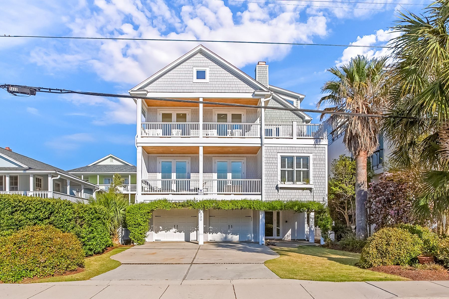 Single Family Homes for Sale at Wrightsville Beach Ocean Views 830 S Lumina Ave. Wrightsville Beach, North Carolina 28480 United States