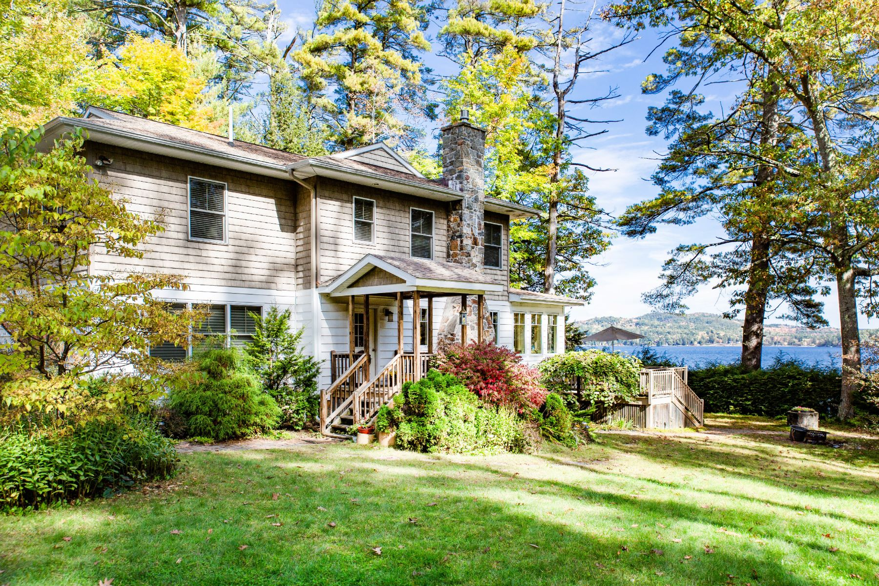 Single Family Homes for Sale at Custom Schroon Lake Home 8514 State Route 9 Schroon Lake, New York 12870 United States