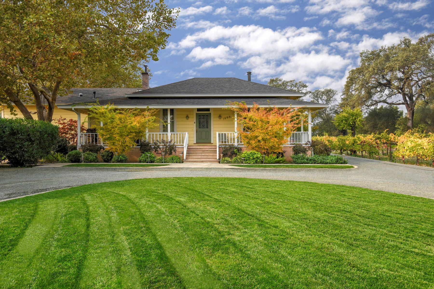 Single Family Homes 为 销售 在 Spring Creek Vineyard Estate 1998 Spring Street 海伦娜, 加利福尼亚州 94574 美国