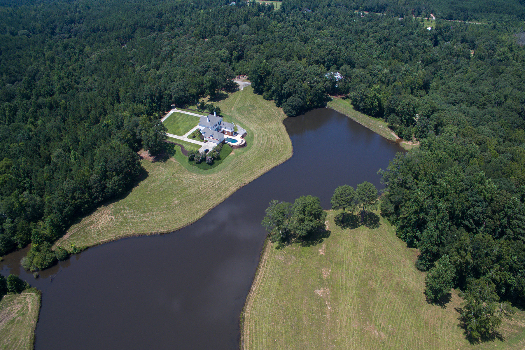 Single Family Homes for Sale at Custom Designed Waterfront Estate 0 Hines Road Moreland, Georgia 30259 United States