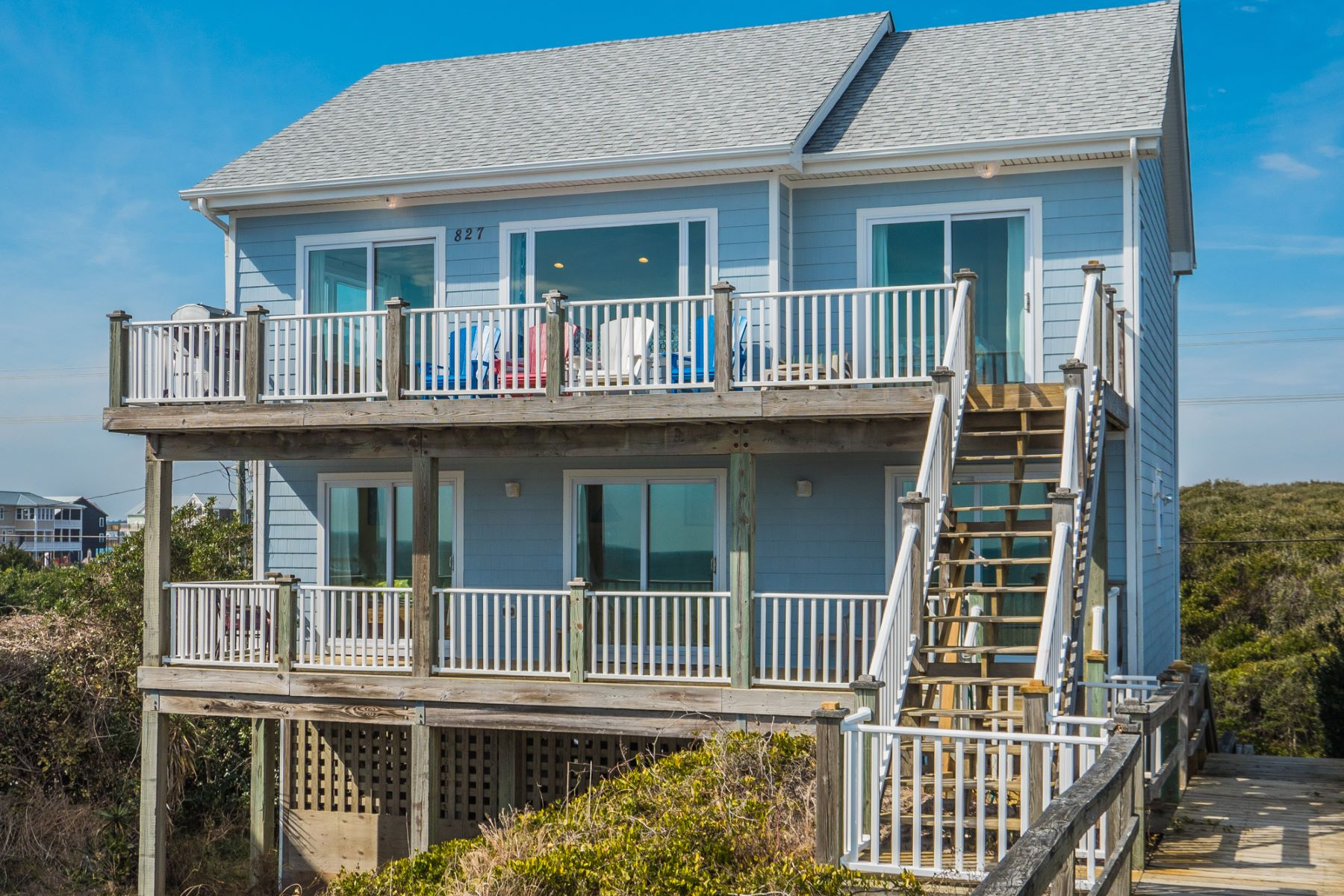 Single Family Home for Sale at Ocean Front Haven with Panoramic Views 827 N Anderson Blvd Topsail Beach, North Carolina 28445 United States