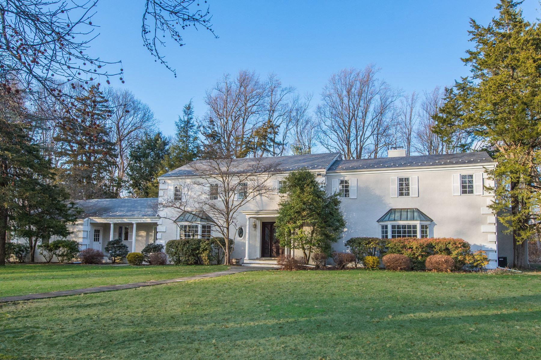 Single Family Homes for Sale at Stately Seven Bedroom Colonial 20 Spencer Place, Harding Township, New Jersey 07960 United States