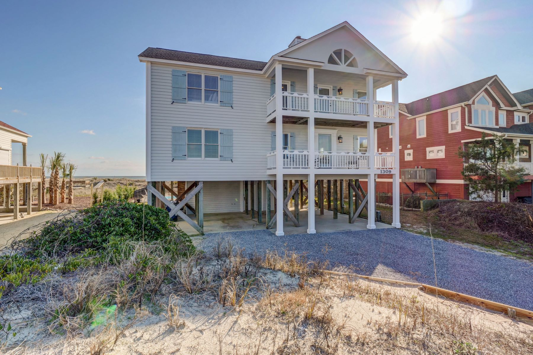 Single Family Homes for Sale at Coastal Dreams With Pool and More 1309 Ocean Blvd W Holden Beach, North Carolina 28462 United States