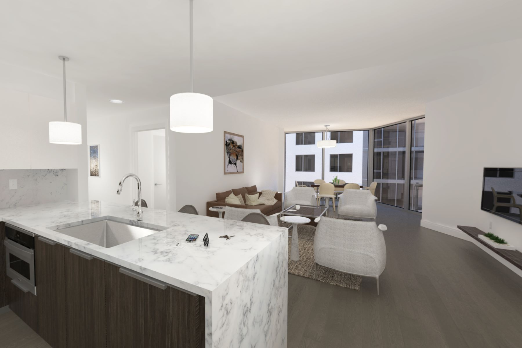 Condominium for Sale at This beautifully designed luxury building features breathtaking views of NYC 9 Avenue at Port Imperial #1012 West New York, New Jersey 07093 United States