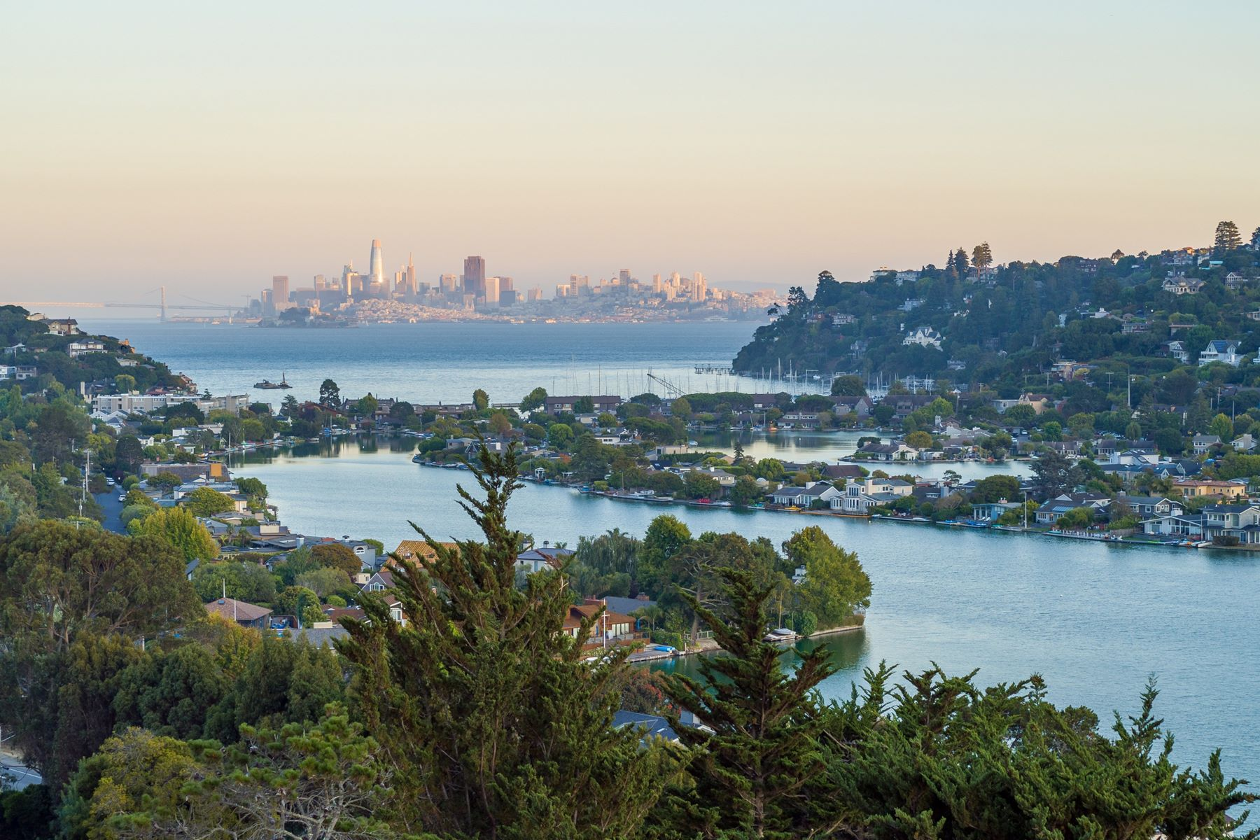 Property for Sale at Modern Eco-Friendly Home with Panoramic Views of SF Skyline, SF Bay and More 4 Owlswood Rd. Tiburon, California 94920 United States