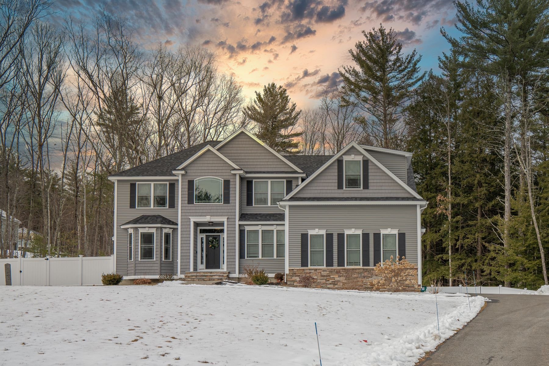 Single Family Homes for Sale at Better Than New Custom Home 327 N Amherst Road Bedford, New Hampshire 03110 United States