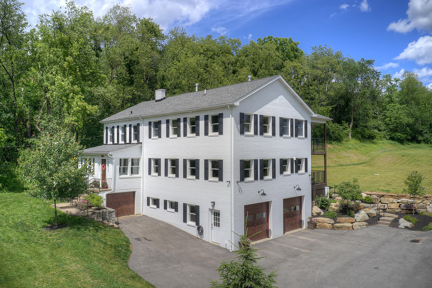 Single Family Homes for Sale at Chic Farmhouse on Private Acre- 2034 Henry Road 2034 Henry Road Sewickley, Pennsylvania 15143 United States