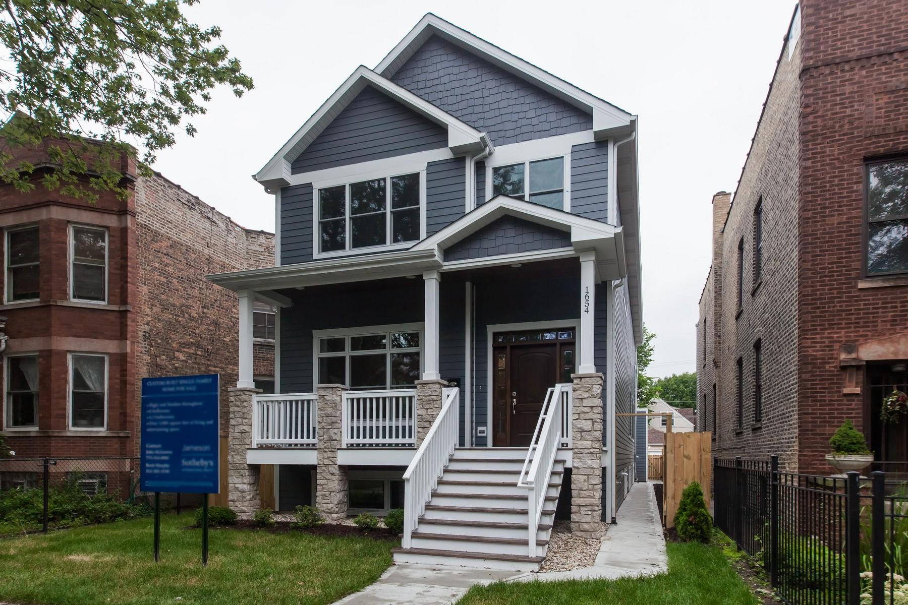 Casa Unifamiliar por un Venta en Timeless and Beautiful Andersonville New Construction 1654 W Carmen Avenue, Edgewater, Chicago, Illinois, 60640 Estados Unidos