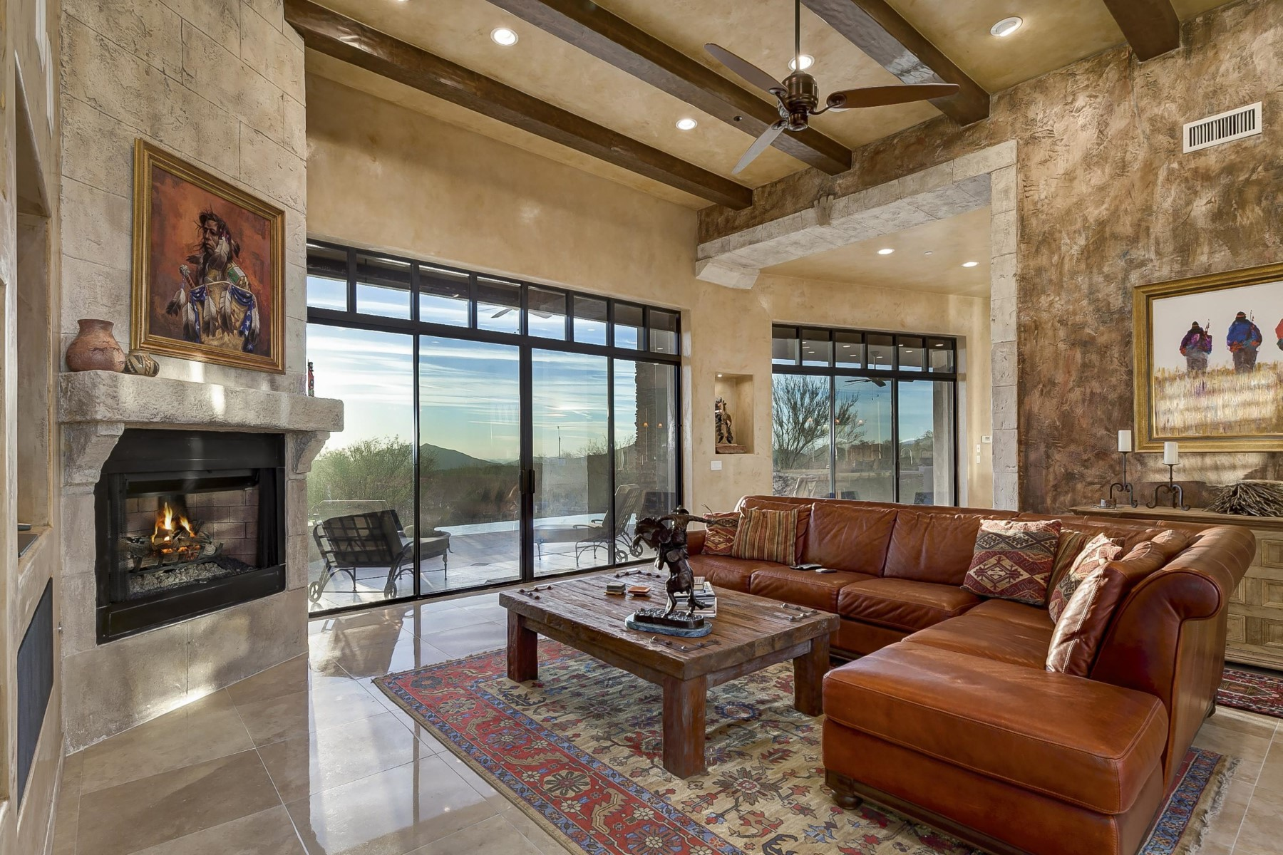 Single Family Home for Sale at Pristine Transitional Southwest home in Desert Mountain 39402 N 106th St, Scottsdale, Arizona, 85262 United States