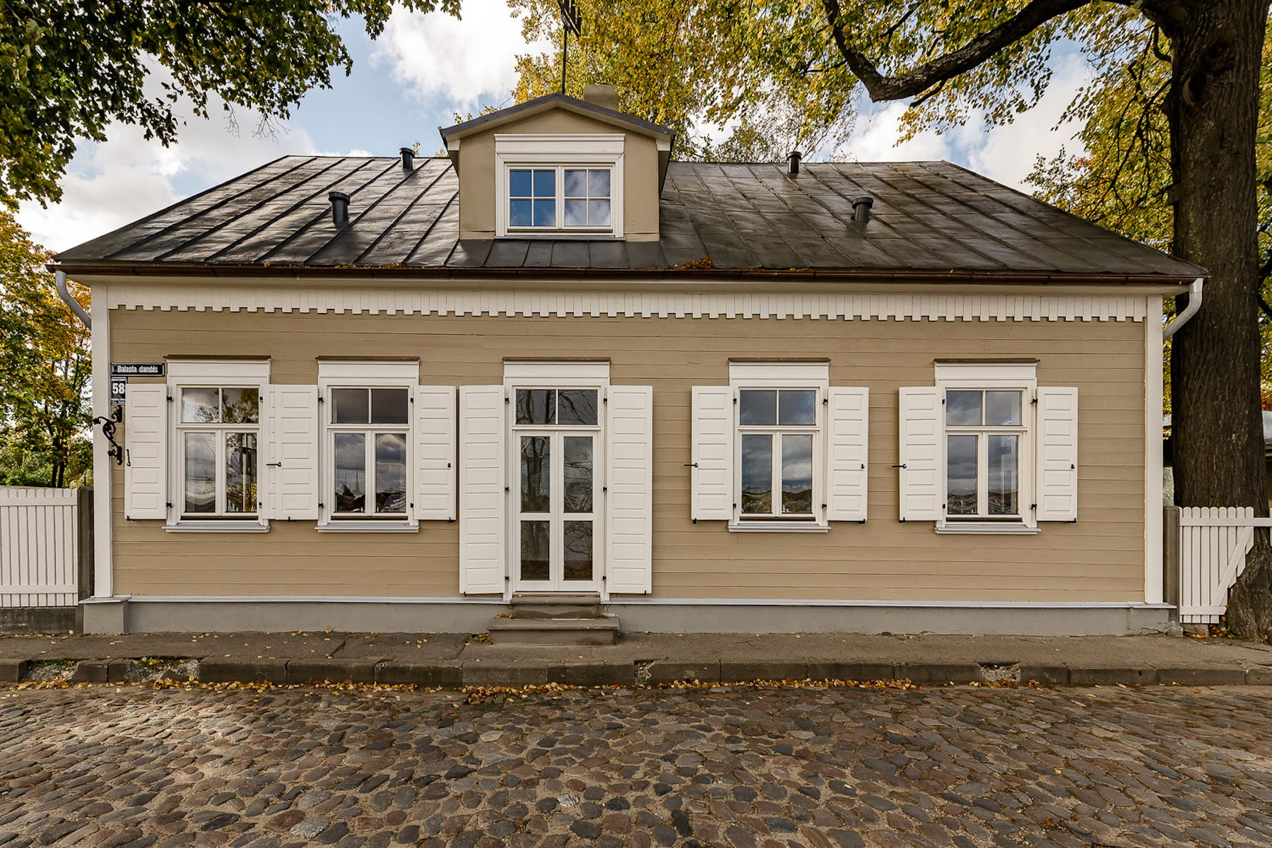 Single Family Home for Sale at Excellent house of wooden architecture in Kipsala Riga, Other Areas In Latvia, Latvia
