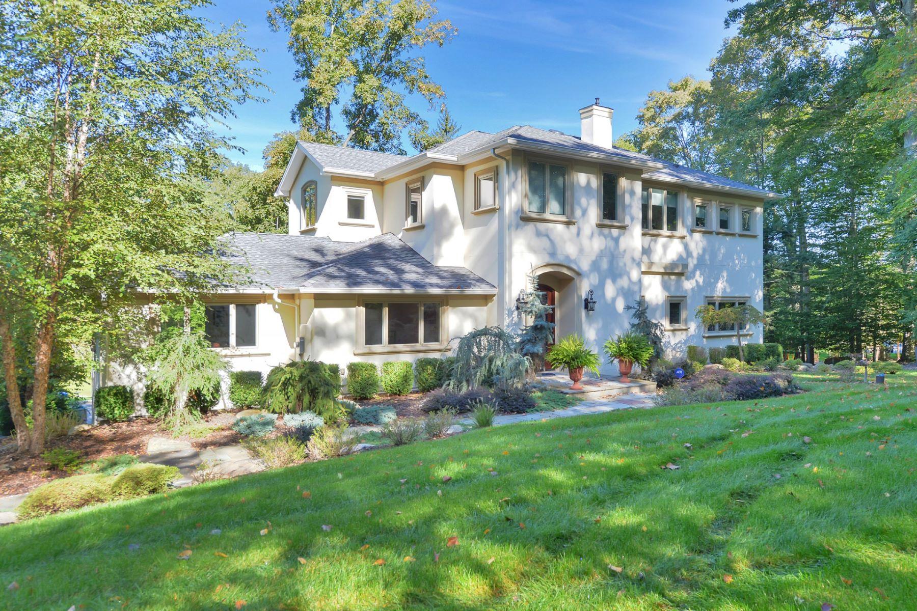 Casa Unifamiliar por un Venta en Gorgeous Park Like Property 9 Deertrail Rd. Saddle River, Nueva Jersey, 07458 Estados Unidos