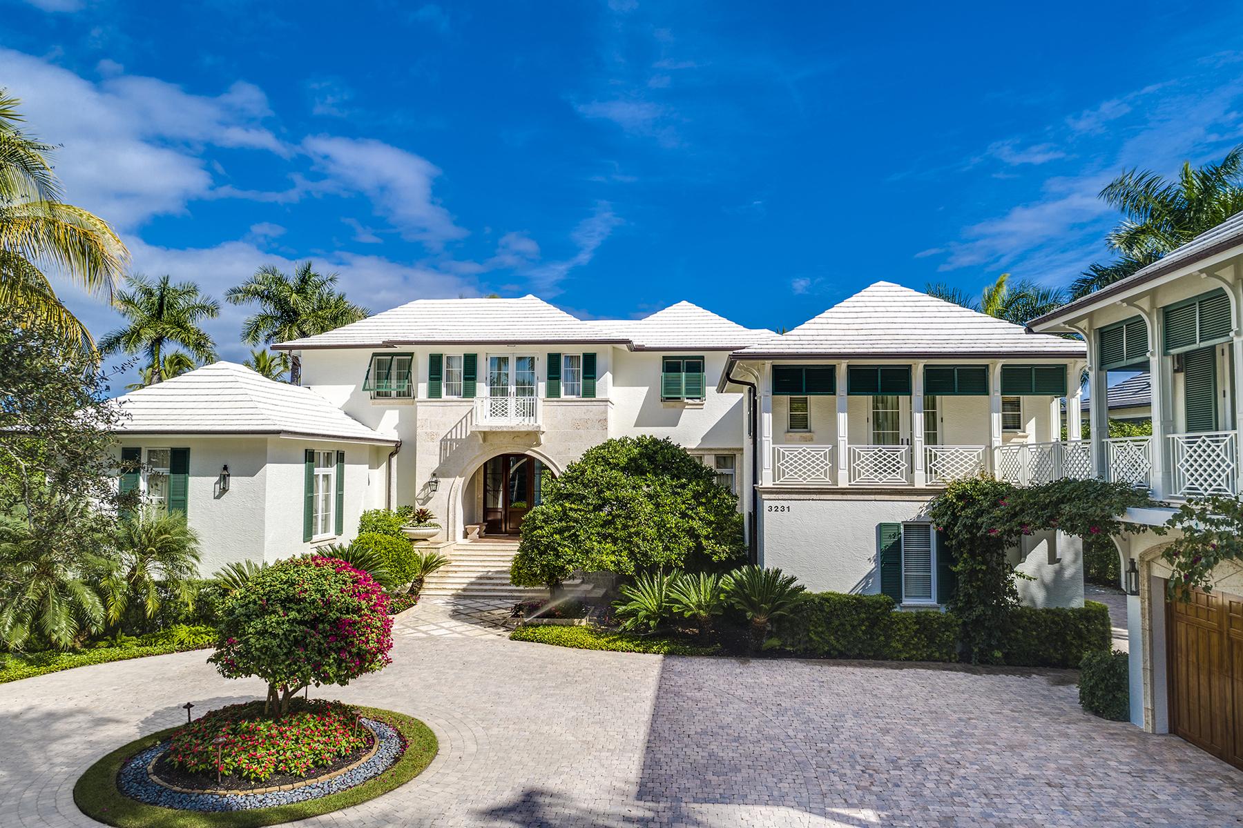 Single Family Homes 용 매매 에 PORT ROYAL 3231 Green Dolphin Lane, 나폴리, 플로리다 34102 미국