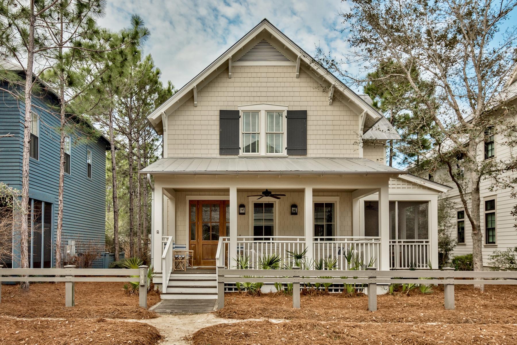 Частный односемейный дом для того Продажа на Spacious Beach Home with Fine Furnishings and Craftsmanship 164 Pond Cypress Way, Watercolor, Santa Rosa Beach, Флорида, 32459 Соединенные Штаты