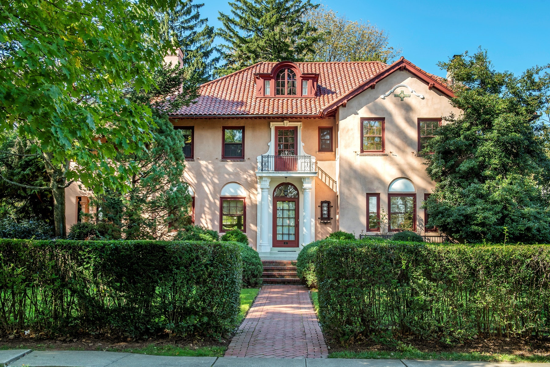 Single Family Home for Rent at Remarkably Beautiful Mediterranean 32 Edgemont Road, Montclair, New Jersey 07042 United States