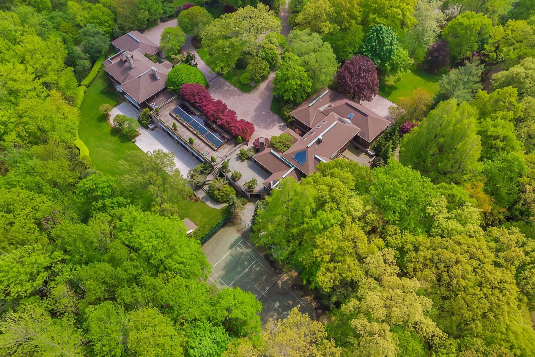 Casa Unifamiliar por un Venta en 4 Acre Estate with Guest Home 27 Timberline Dr, Alpine, Nueva Jersey 07620 Estados Unidos