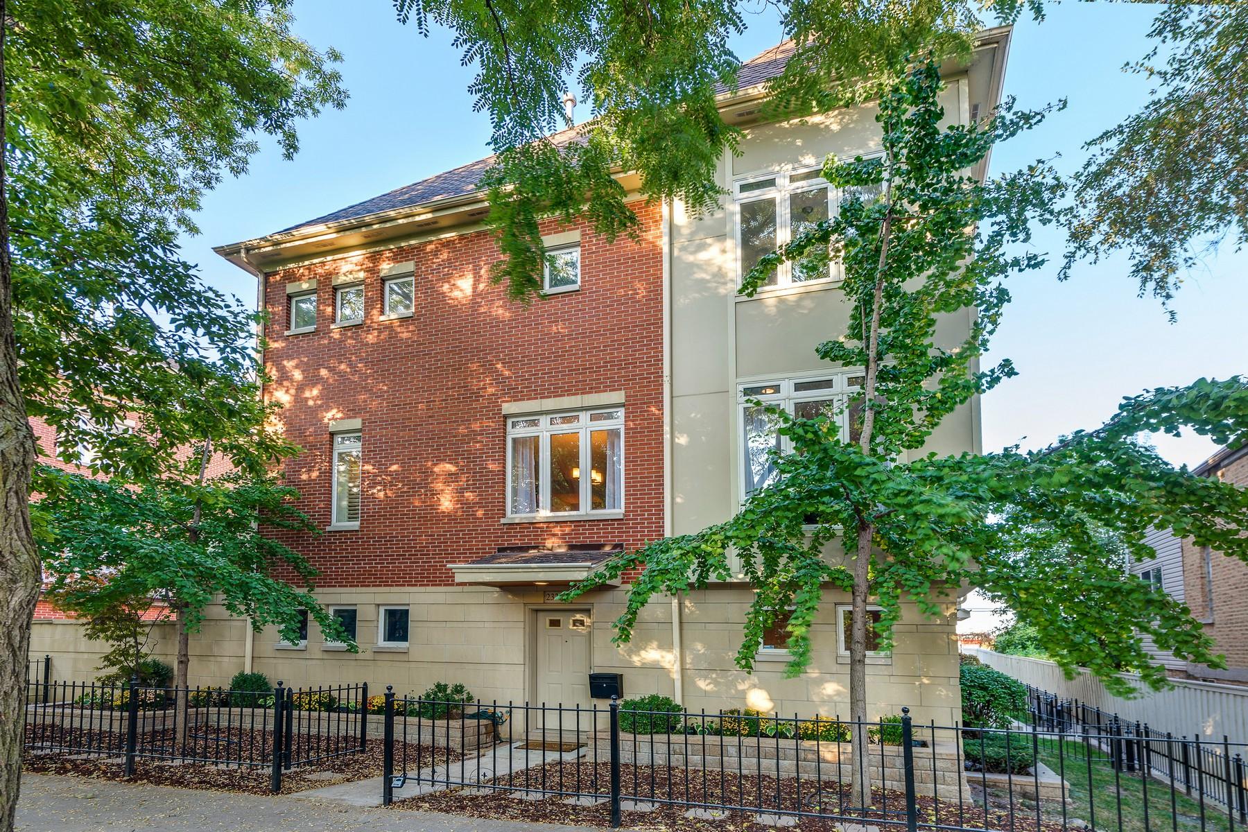 Maison en rangée pour l Vente à Bucktown Townhome 2331 N Lister Avenue Unit A, Logan Square, Chicago, Illinois, 60614 États-Unis