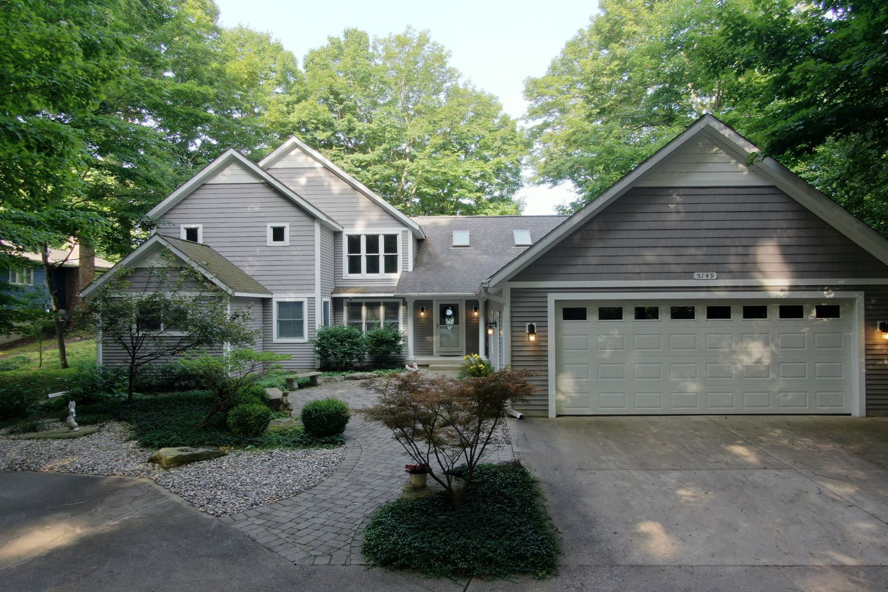 Single Family Homes for Active at Exquisite Waterfront Estate with Coveted Frontage 5149 Rosabelle Beach Avenue Holland, Michigan 49424 United States