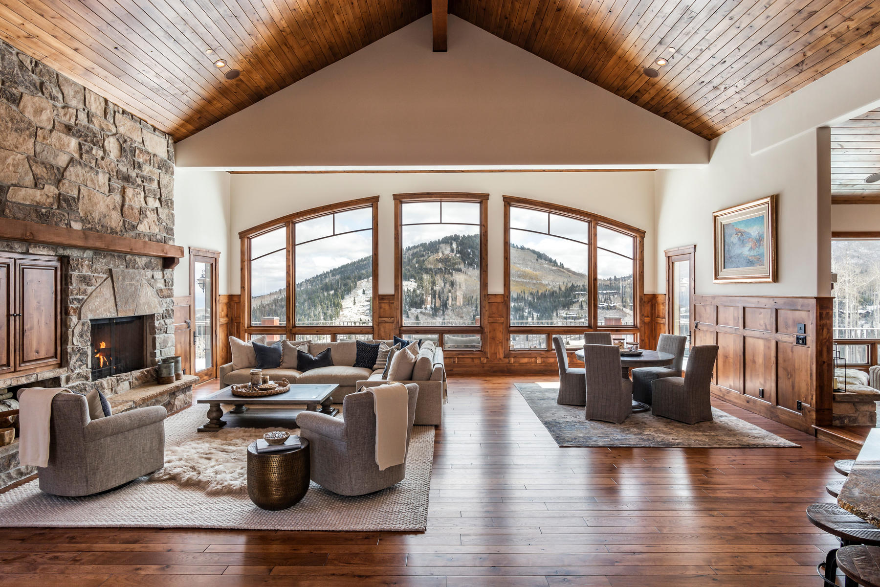 Single Family Homes for Sale at Gracious Slope-side Mountain Living with Captivating Views 151 White Pine Canyon Rd, Park City, Utah 84060 United States