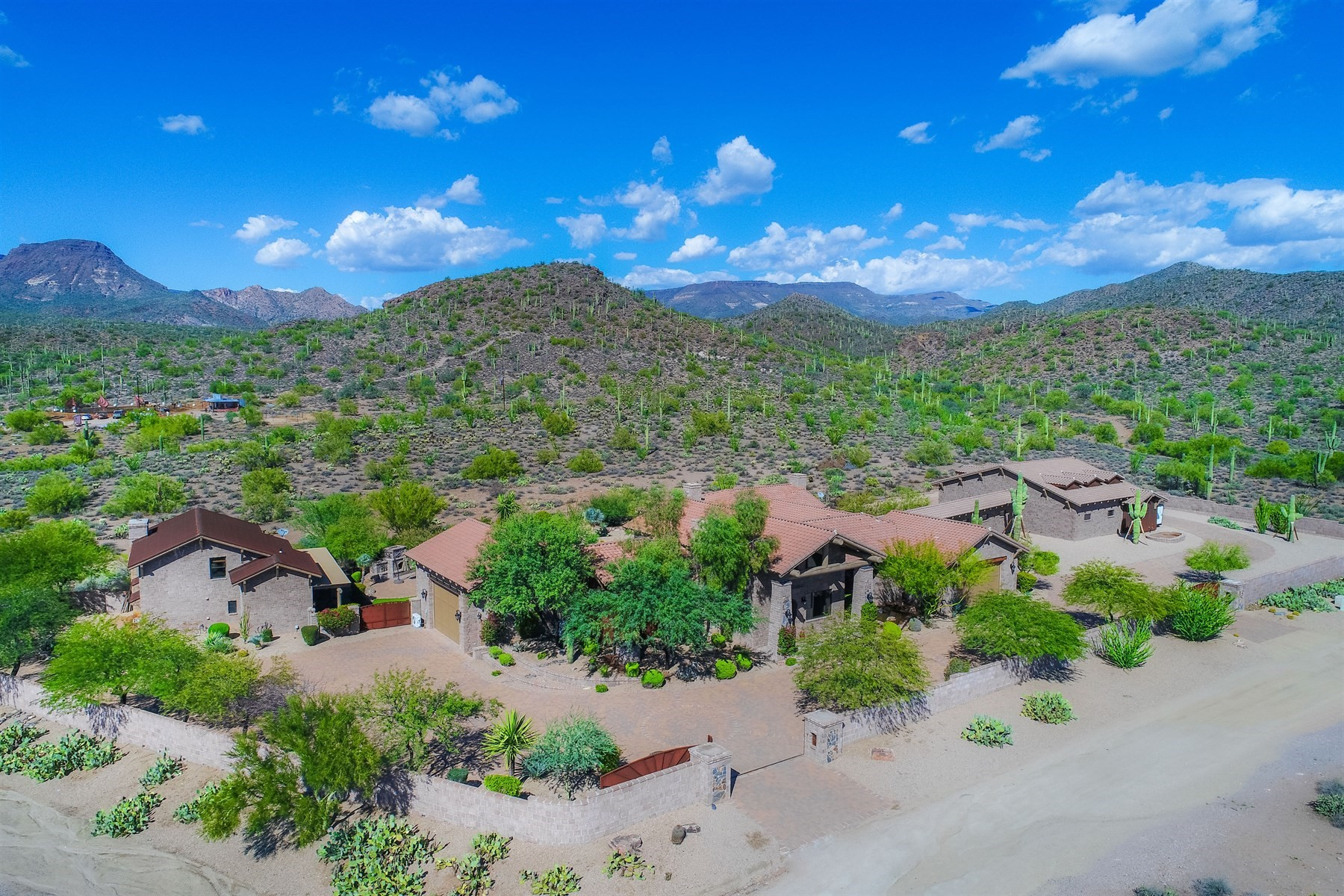 Single Family Homes for Sale at Gated Estate Compound in the Mountains 42531 N Spur Cross Rd Cave Creek, Arizona 85331 United States