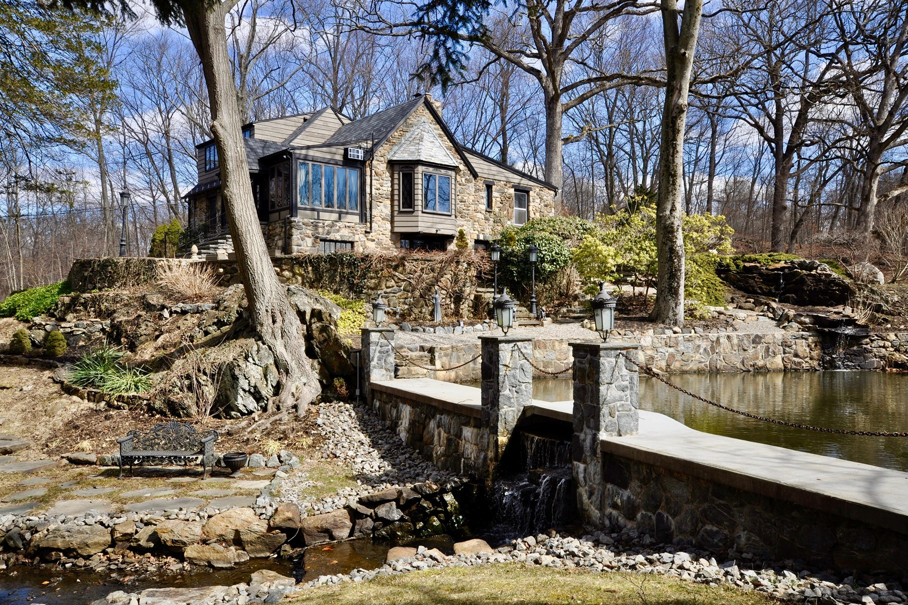 Single Family Homes for Sale at Romantic Stone Hideaway 64 Twin Ridges Road Ossining, New York 10562 United States