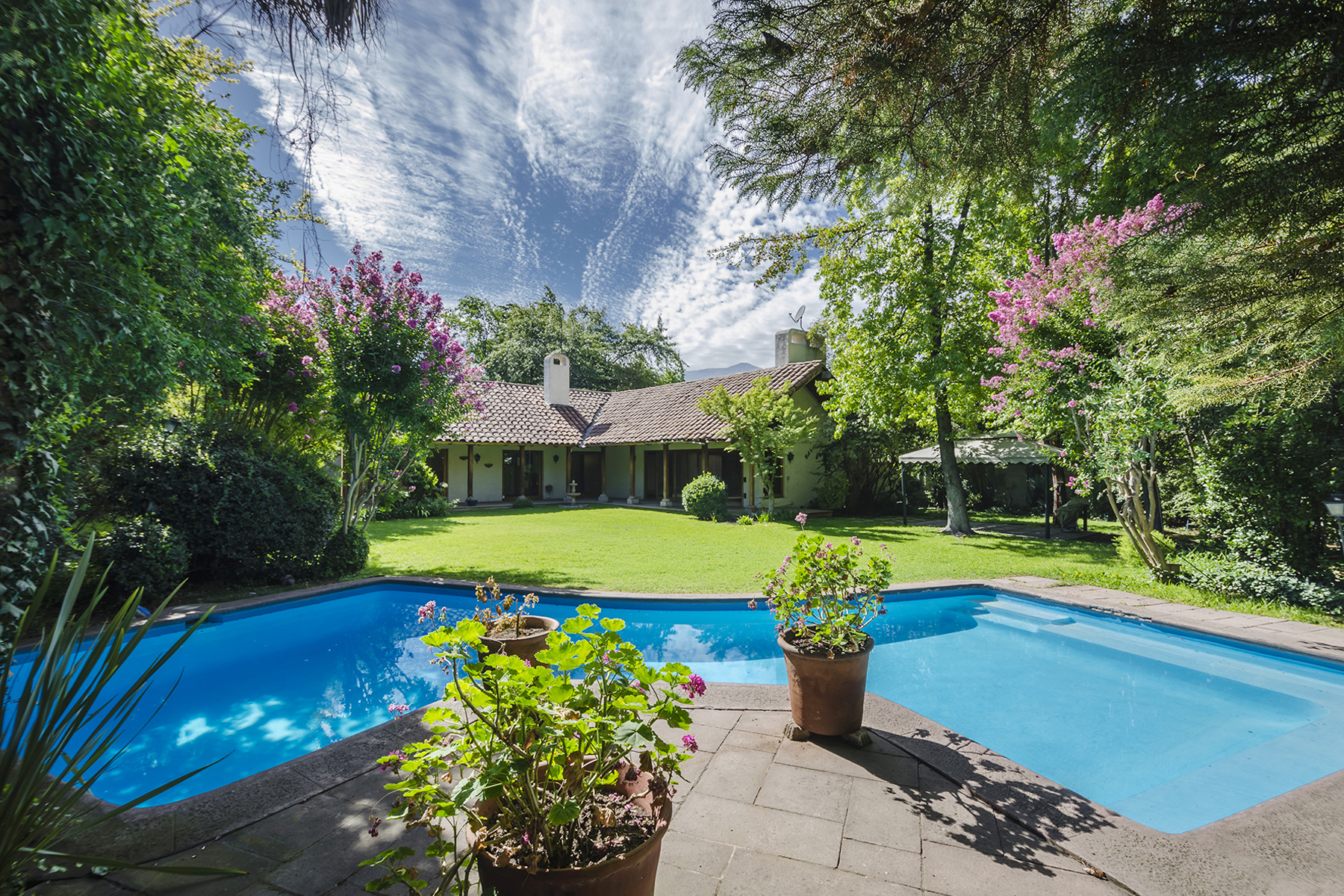 Single Family Home for Rent at Lovely Chilean House with Spectacular Garden - La Dehesa Lo Barnechea, Santiago, Region Metropolitana De Santiago Chile