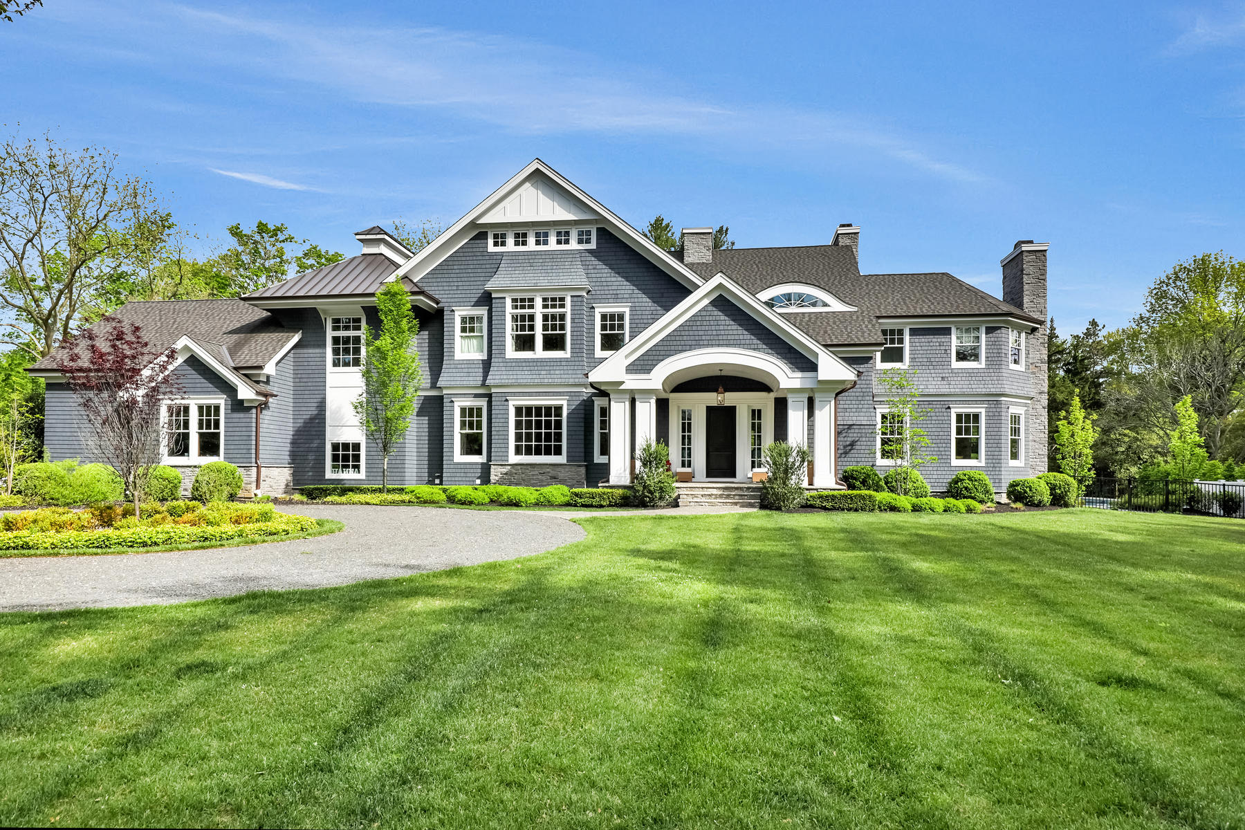 Single Family Homes for Sale at Spectacular Rumson Home 2 Buttonwood Lane Rumson, New Jersey 07760 United States