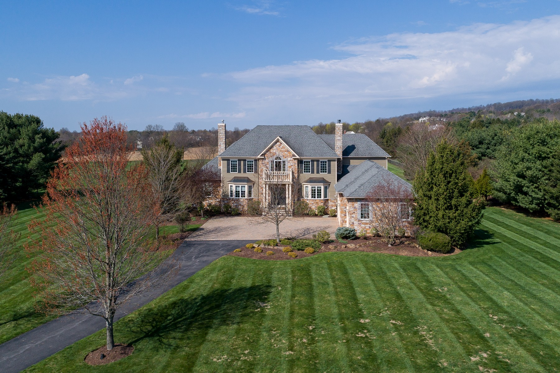 Single Family Home for Sale at Striking Custom Colonial 4 Viewpoint Terrace Tewksbury Township, New Jersey 07830 United States