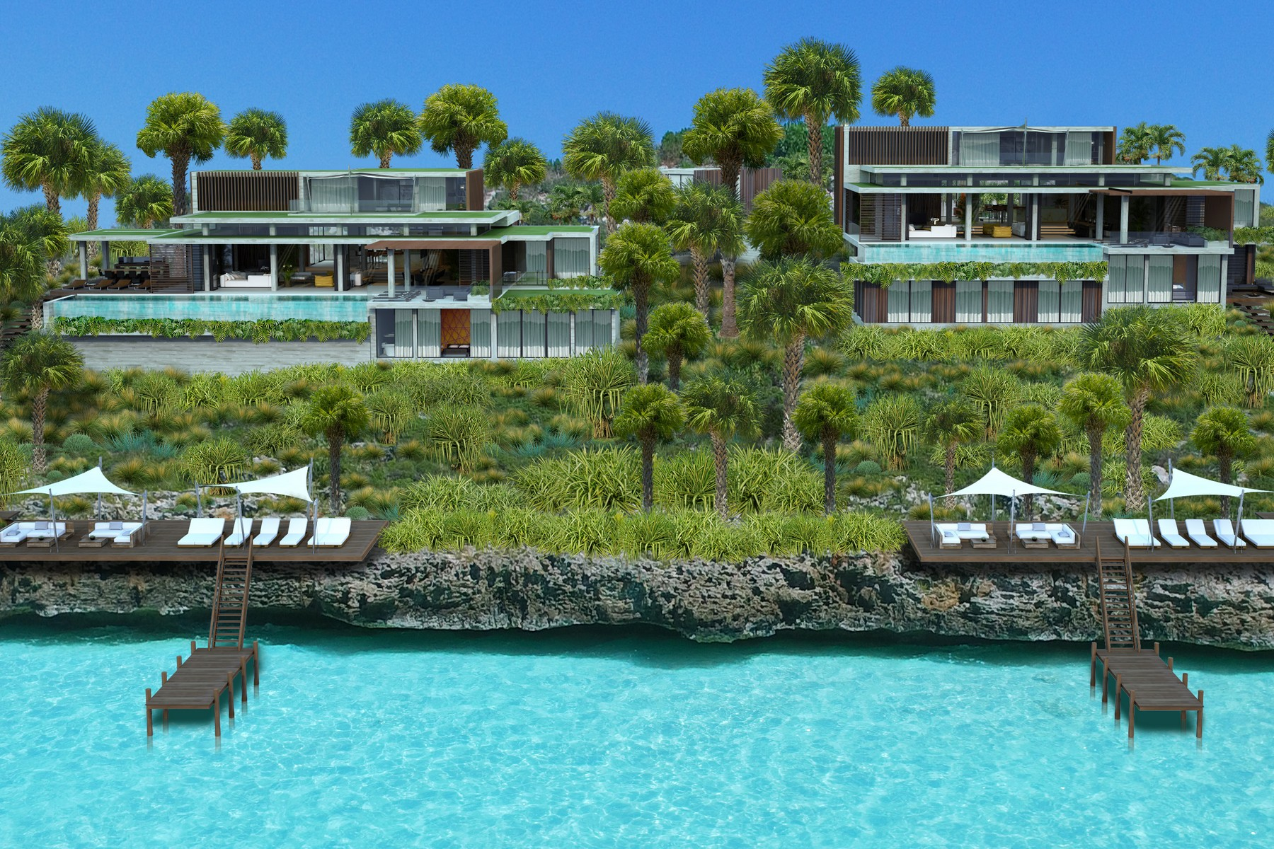 Single Family Homes for Sale at Headland Villas - Lot 1 Turtle Tail, Providenciales Turks And Caicos Islands