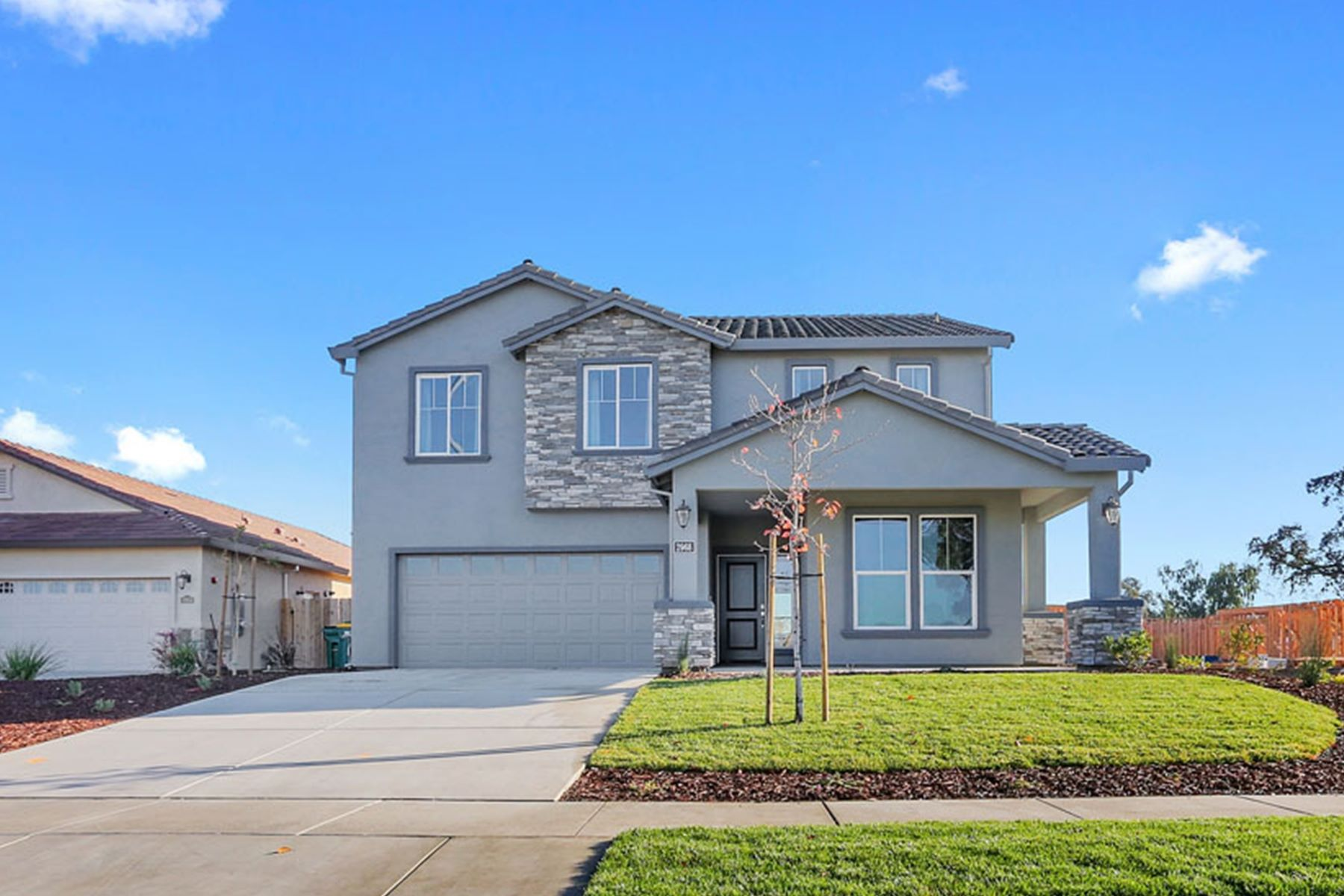 Single Family Homes for Sale at Brand New on the Street of Dreams 1755 Old Oak Drive Stockton, California 95206 United States