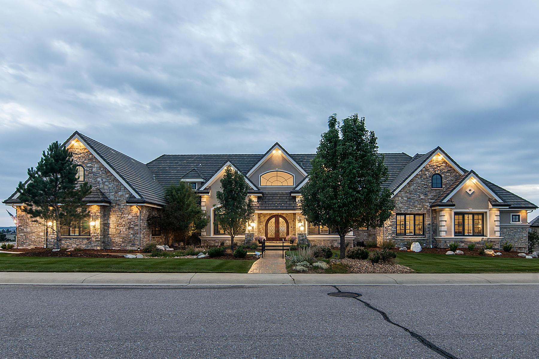 Casa para uma família para Venda às Awe-Inspiring Work of Art With Brilliant Architecture 9218 Windhaven Drive Parker, Colorado, 80134 Estados Unidos