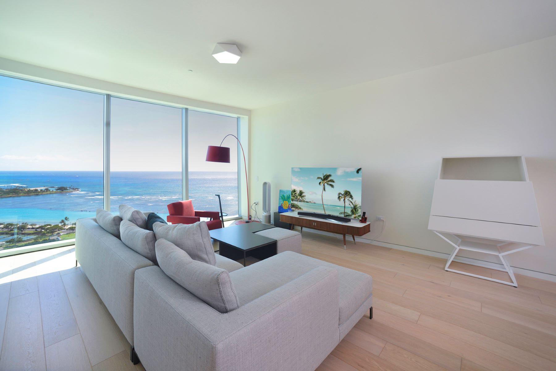 Condominiums for Sale at Waiea Condo, Luxury Condo, Ocean View, Diamond Head View 1118 Ala Moana Boulevard #2602 Honolulu, Hawaii 96814 United States