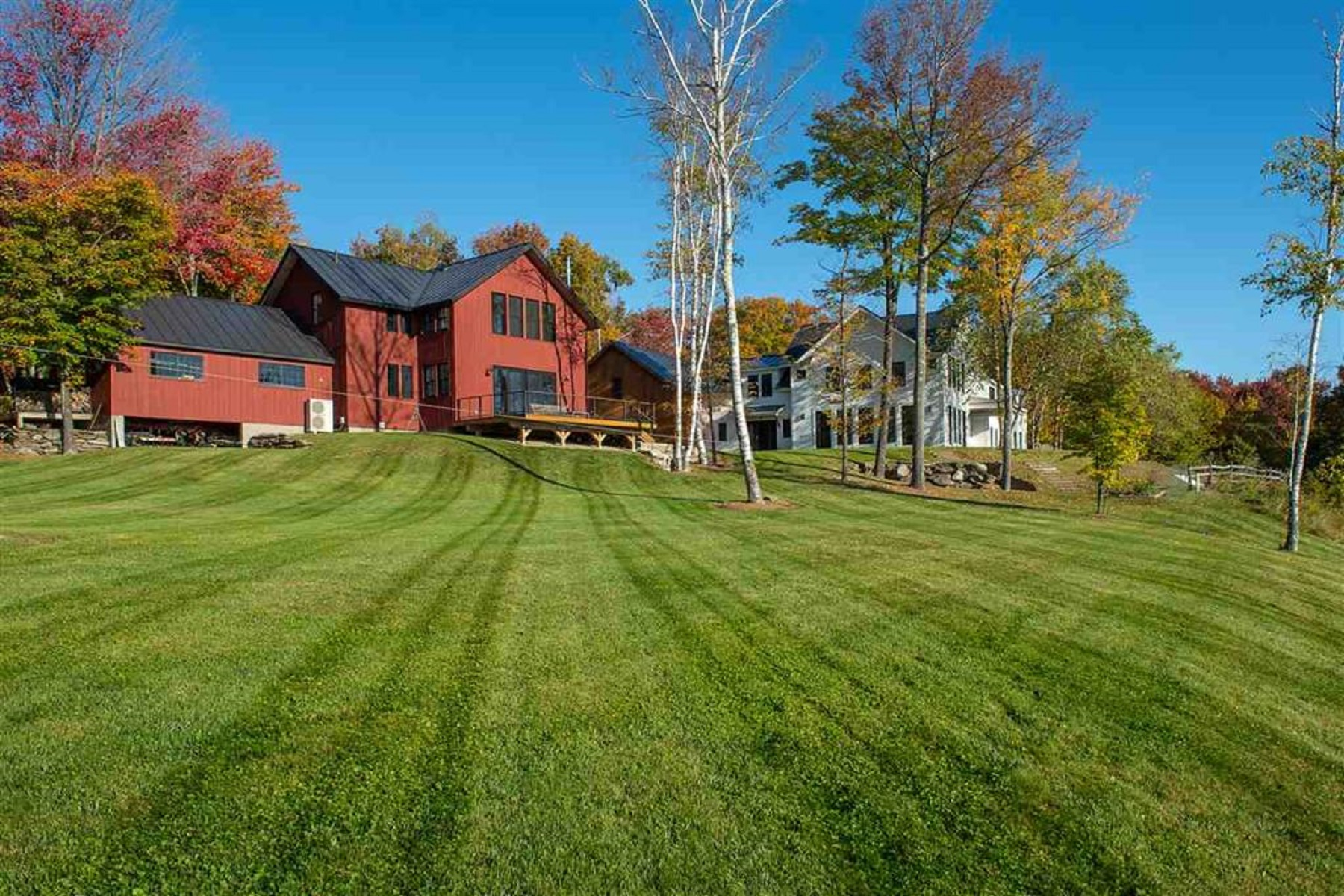 single family homes for Sale at Colonial with Contemporary Flare 180 Birch Hill Lane Norwich, Vermont 05055 United States