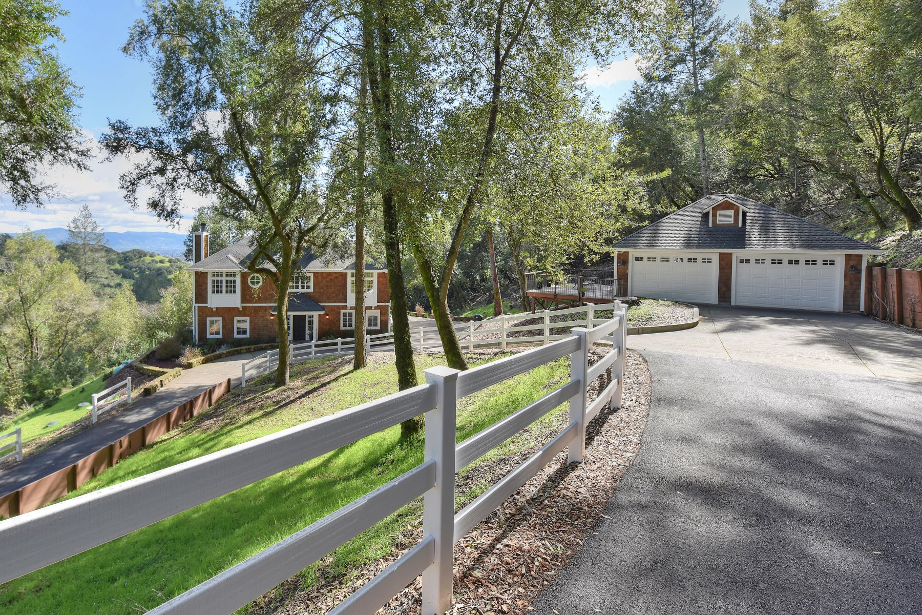 sales property at Custom Craftsman Home Commands Stunning Views
