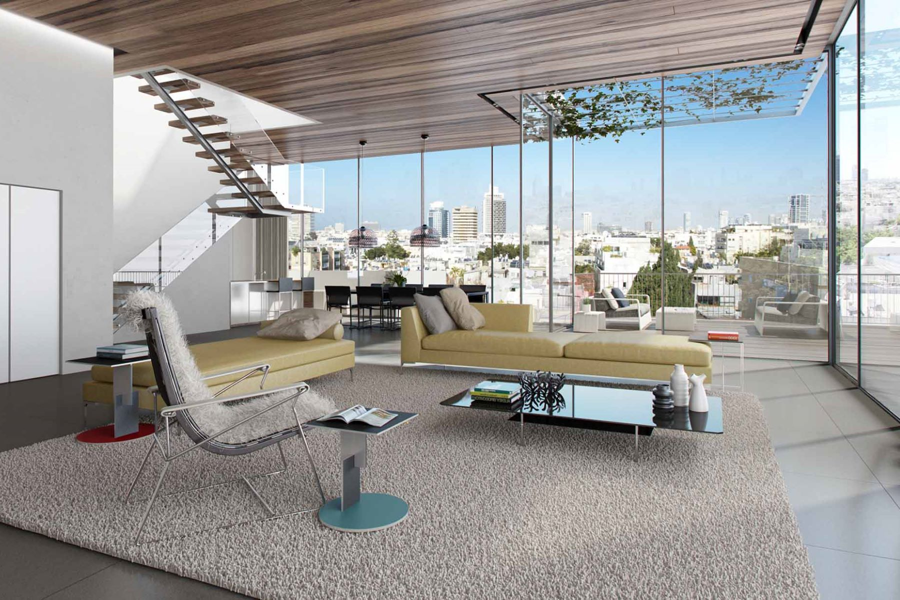 Appartement pour l Vente à Exquisite Brand New Penthouse with Private Pool Tel Aviv, Israël