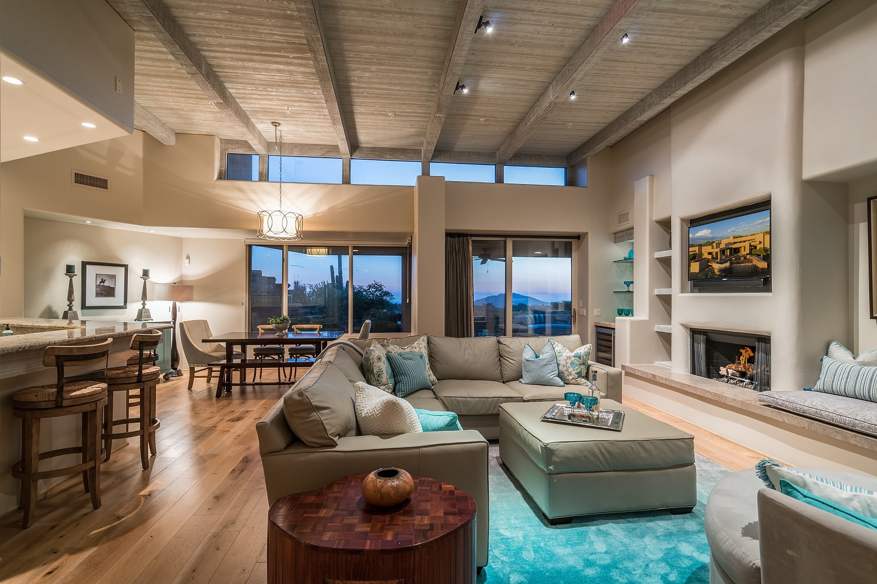 Single Family Home for Sale at Soft contemporary home with unobstructed mountain views 40036 N 110th Place, Scottsdale, Arizona, 85262 United States