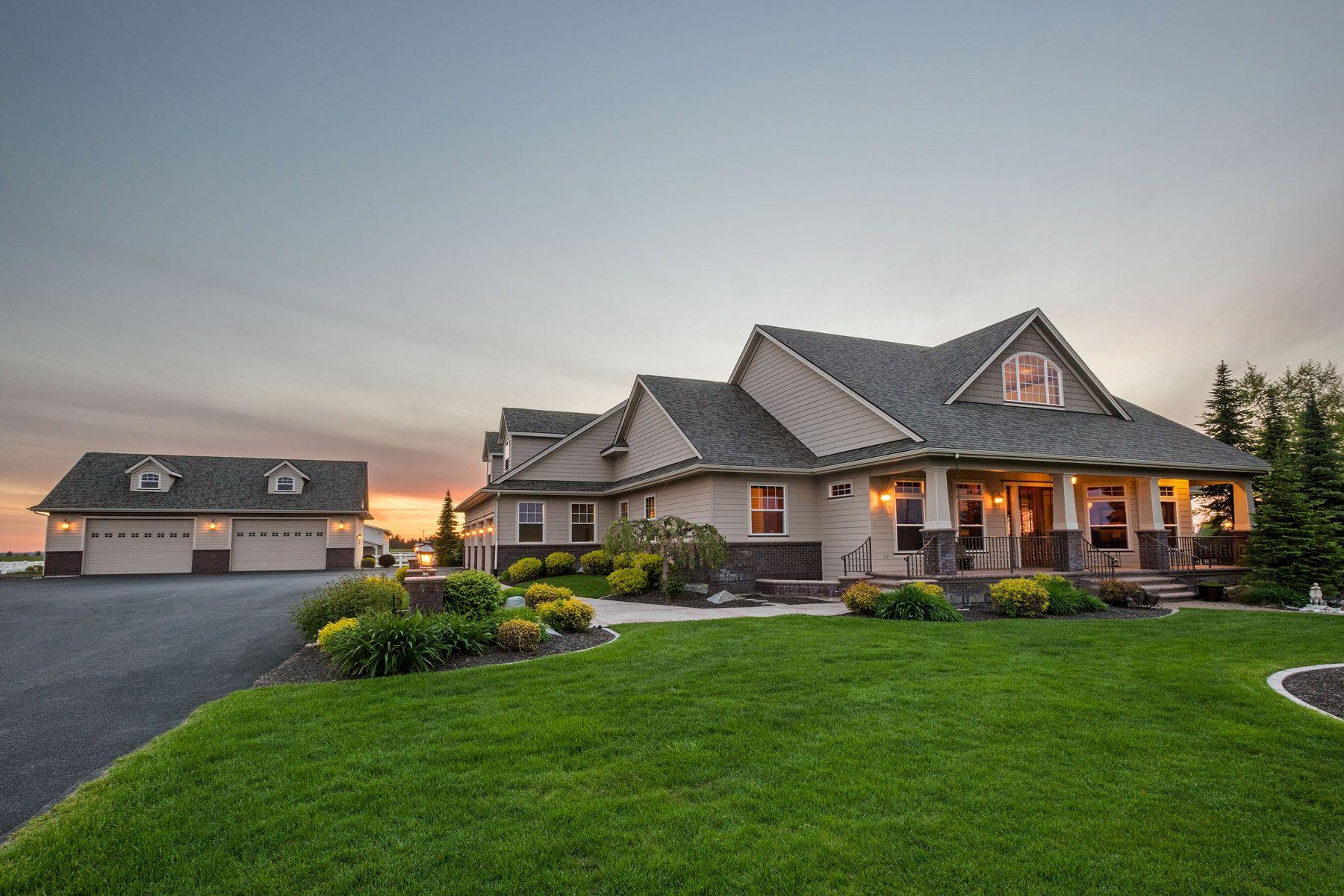 """独户住宅 为 销售 在 CIRCLE """"H"""" ESTATE 7809 North Jensen Spokane, 华盛顿州 99217 美国"""