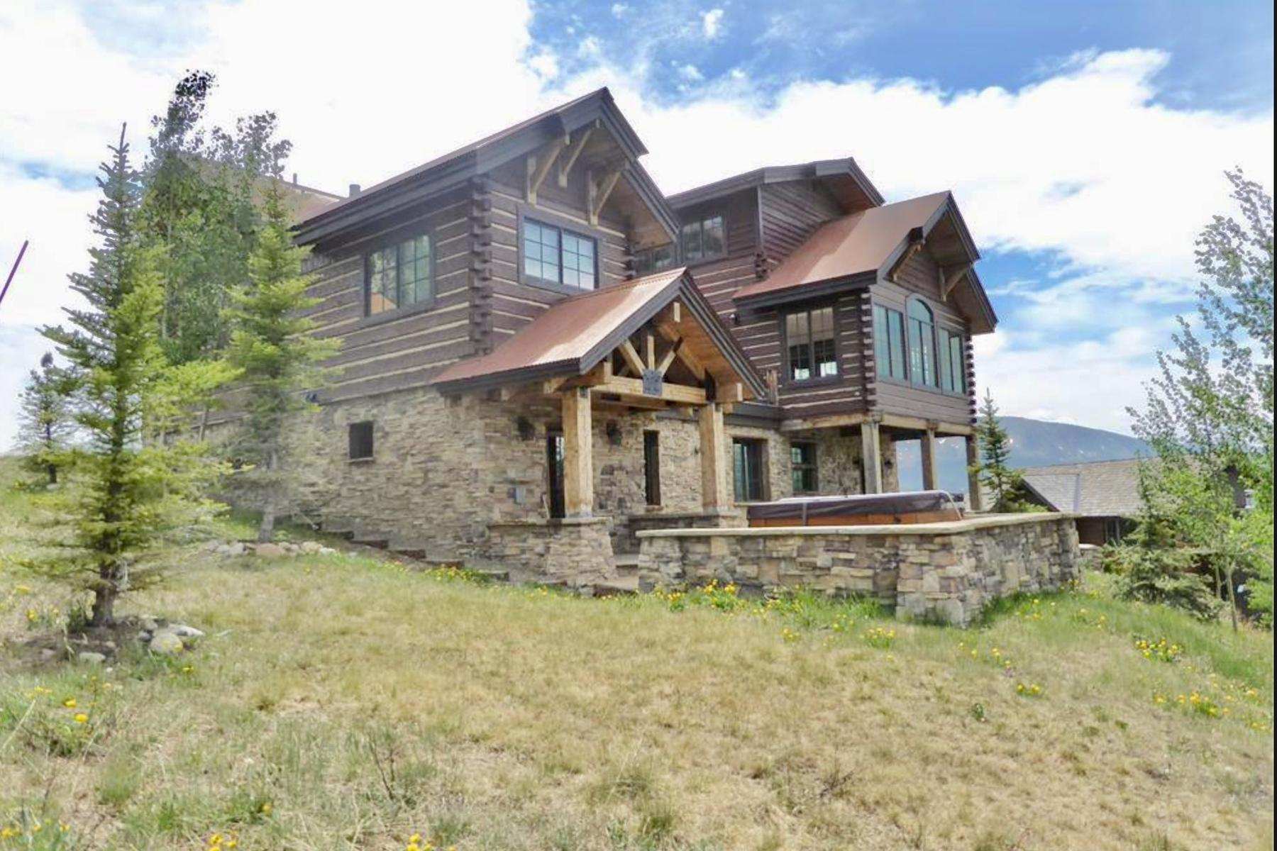 Single Family Homes for Sale at Custom Mountain Retreat with Breathtaking Views 59 Summit Road Mount Crested Butte, Colorado 81225 United States