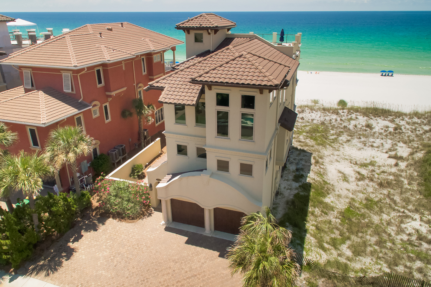 Single Family Homes for Sale at Expansive Mediterranean Gulf Front Escape 4720 Ocean Blvd Destin, Florida 32541 United States