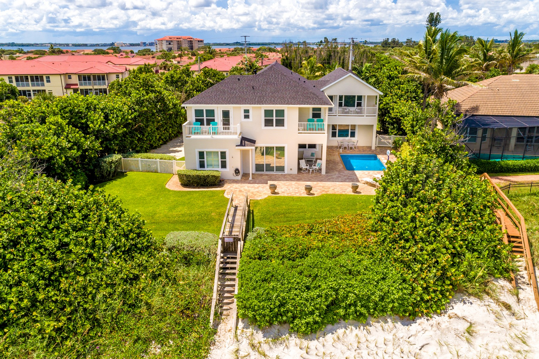 Single Family Home for Sale at Large Oceanfront home in Ideal Location 3185 Highway A1A Melbourne Beach, Florida 32951 United States