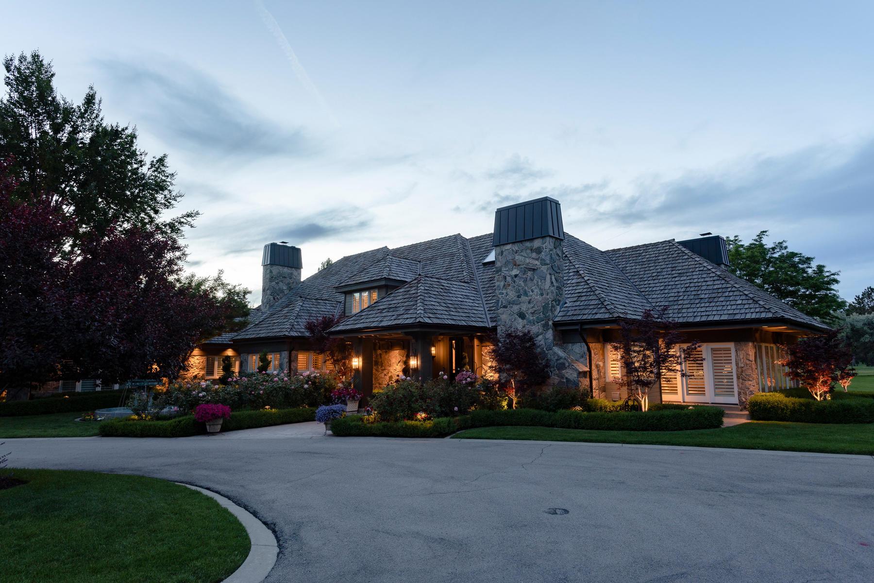 Single Family Homes for Sale at Elegant 2 Acre Estate 12108 S Pendleton Cir, Draper, Utah 84020 United States