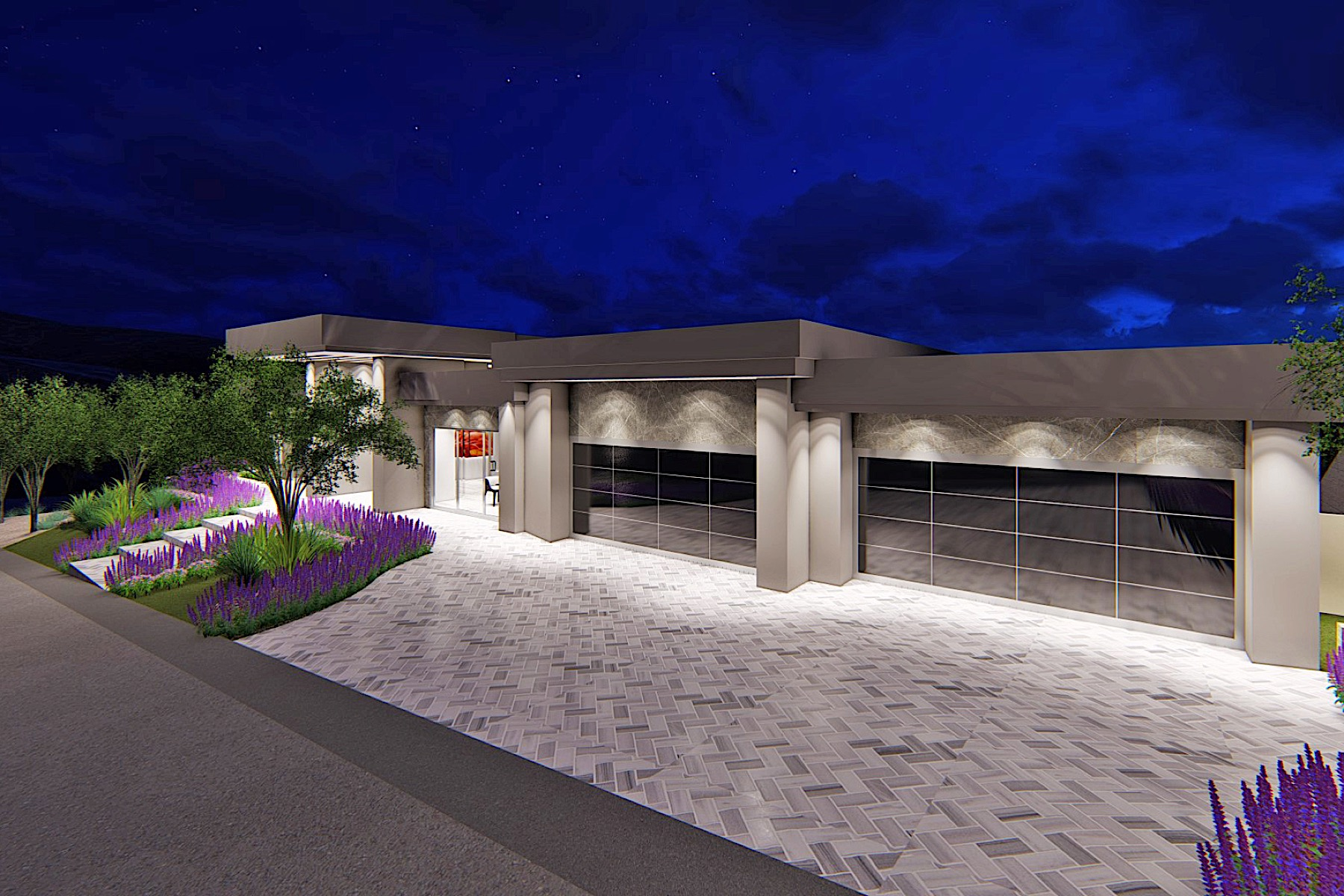 Additional photo for property listing at Galaxy   New Modern Single Story with Strip Views 673 Falcon Cliff Ct Henderson, Nevada 89012 United States