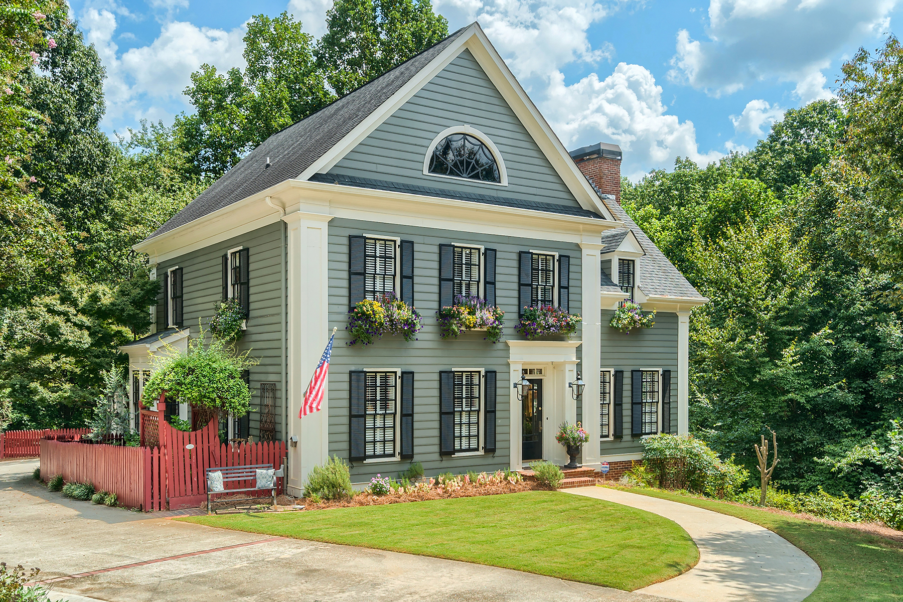 Single Family Home for Sale at Charming Vernacular Farmhouse 3445 Highgate Hills Duluth, Georgia 30097 United States